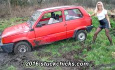 Carstuck wheelspin Stuckchicks.com