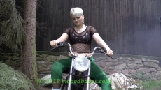 Moped mom