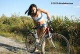 Flat riding bike