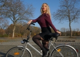 Bicycle lady