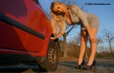 Deflate lady