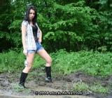 Walking in boots