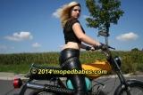 Sunny mopedride